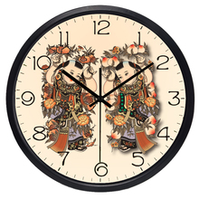 China Style Brand Long life Pendulum Home Wall Clock Personalized Round Vintage Lucky doll Watch