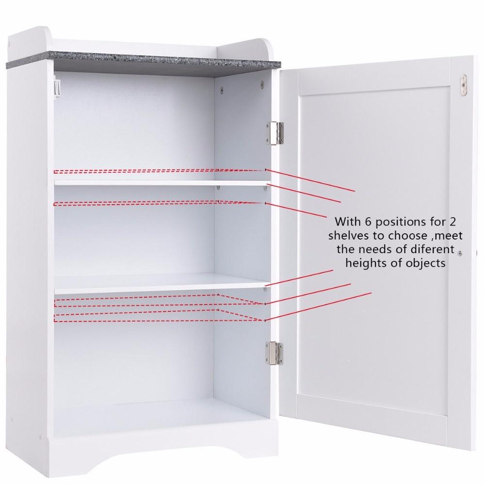Giantex Bathroom Floor Storage Cabinet Freestanding Adjustable Shelves W/Single Door NEW Modern Bathroom Furniture HW57076 7