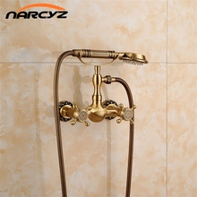 Discount shipping Morden Free Standing Bathtub Shower Sets Mixer Tap Hand Sprayer Sanitary Ware XR-12