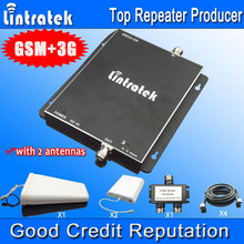 GSM 900MHz UMTS 2100MHz Dual Band Signal Booster GSM 3G Cell Phone Booster Repeater Amplifier with 2 indoor antenna for Big Area