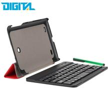For LG G Pad 7 Ultrathin Wireless Bluetooth Keyboard with Foldable Magnetic PU Leather Case Cover Stand Holder and Stylus Pen