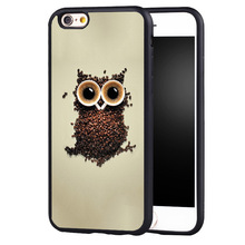 Aztec Animal OWL coffee case cover For Samsung s6 S7 S6edge S8 S8plus s4 s5 note 2 3 4 5