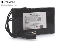 ENTEMPLE Portable Super 18650 Rechargeable Li-lon battery pack capacity DC 12 V 6800 Mah CCTV Cam Monitor(China)