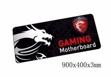 900x400x3mm msi mouse pads Popular pad to mouse notbook computer mousepad gaming padmouse gamer to laptop keyboard mouse mat(China)