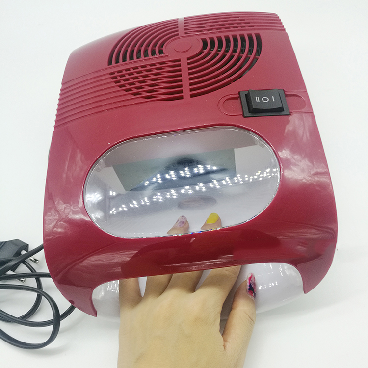 Hot &amp; Cold Air Nail Dryer Blower Manicure for Drying Nail Polish &amp; Acrylic Beauty Red Color 220V EU 110V US Plug Tool Fan<br>