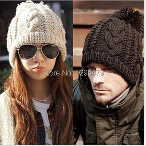 Direct Selling Solid Adult Casual Hats For Women New Womens Mens Winter Warm Knit Beret Hat Beanie Crochet Ski Baggy CapОдежда и ак�е��уары<br><br><br>Aliexpress