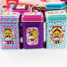 Adorable Cartoon Girl Picture Mac Lipstick Box 12Piece/Lot Small Metal Box Foe Tea Pill Small Things Best Mac Make Up Organizer