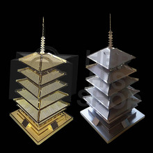 2017 New Five-Story Pagoda Development Of Intelligence Toy 3D Metal Puzzles Earth Laser Cut Model Jigsaws DIY Eiffel Tower gifi