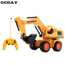 OCDAY Toys RC Excavator Charging 1:10 RC Car With Battery Radio Remote Control Stunt Digger Model Engineering Vehicle Toy Car(China)