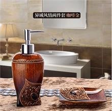 Bathroom Set piece holder Creative hand sanitizer bottle resin toothpaste dispenser Soap box Toiletries ladybug accessories