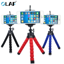 Olaf Octopus-styling mini phone Tripod Bracket Selfie Stand Mount Holder Monopod Phone Holder For Digital Camera & phone New(China)