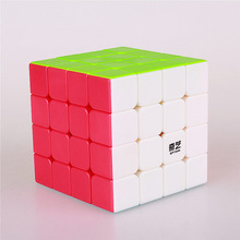 4x4x4 QIYI puzzle magic cube 62 mm speed sticker less educational Anti stress reliever cubes toys for children professional cubo(China)