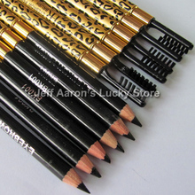 12pcs leopard black eye brow liner pen with brush Makeup Eyebrow eyeliner pencil Wholesale