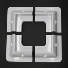 5 Set /Lot 4 x Corner Bracket Set Solar Panel Mounting Kit-White(China)