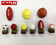CHYI Sports Balls Series USB Flash Drive Pen Drive Basketball Football Rugby Golf Tennis Memory Stick 4/8/16/32/64GB Pendrive