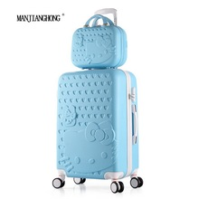 28inch sets High quality Trolley suitcase luggage traveller case box Pull Rod trunk rolling spinner wheels ABS+PC boarding bag(China)