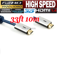 Premium 10M HDMI cable cord V 1.4 3D&blue ray supported Metal case for PS4,PS3,XBoX,DVD,STB etc.(China)