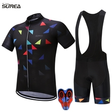 2017 cycling jersey set 8 Styles ropa ciclismo hombre men sport mtb bike jerseys maillot ciclismo bicycle cycling clothing kits(China)