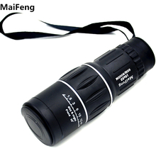 Top Sale Monocular Telescope 16x52 Dual Focus Green Film Binoculo Optical Hunting  Tourism Scope  Low light level  night vision