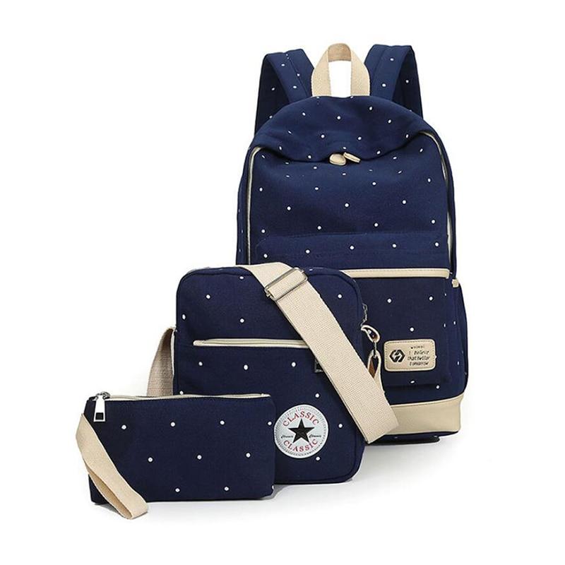 2017 famous brand Girl School Bags For Teenagers backpack women shoulder travel bags 3 Pcs/Set rucksack mochila knapsack<br><br>Aliexpress