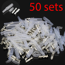 4.0 bullet terminal car electrical wire connector diameter 4mm pin set 50sets=200pcs Female + Male + Case(Bhutan)