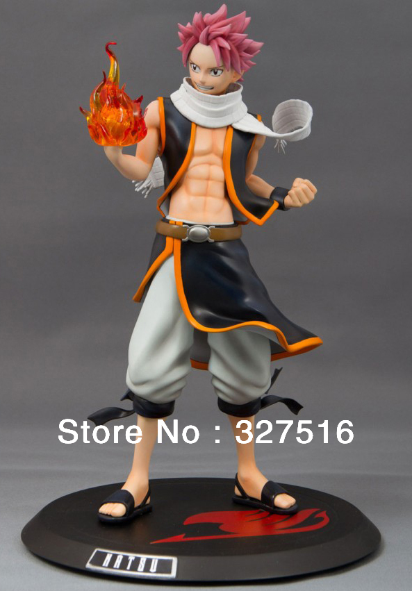 New arrival Japan Anime  FAIRY TAIL Natsu Dragneel High quality PVC Action Figure Toy Approximately 20 cm Gift Free shipping<br>
