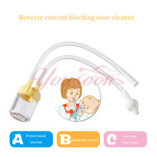 New Born Baby Safety Adjustable suction Nose Cleaner Vacuum Suction boys girls unisex Nasal Aspirator Free Shipping easy clean(China)