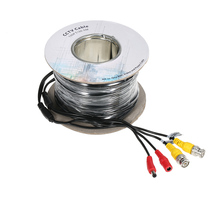 Video Power BNC Cable 100ft 30.5m for Analog AHD Surveillance CCTV Camera DVR Kit(China)