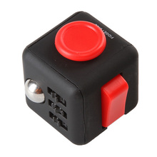 11patterns Squeeze Fun Fidget Cube Toy Dice Anxiety Attention Anti stress Puzzle Magic Relief Adults Funny Fidget Toys(China)