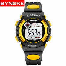 Sport Kids Watches Countdown Time Alarm Chrono Digital Wristwatches 30M Waterproof Boy Girl Clock Children Watch Yellow(China)