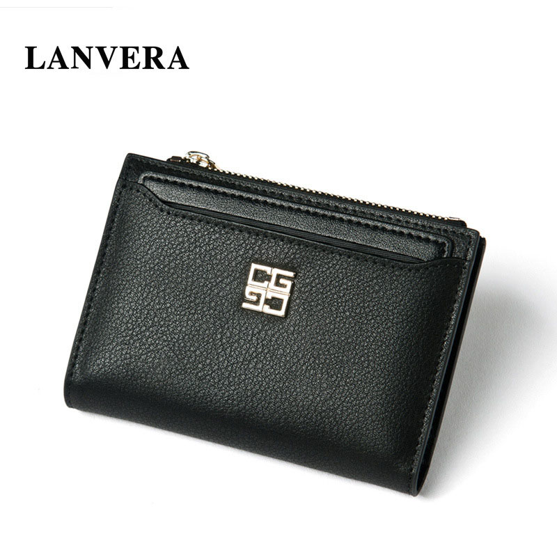 LANVERA Brand Genuine Leather Woman Wallet Folding Short    Womens Purse Leather    Women Purse For Coins   Ladies Card Holder<br><br>Aliexpress