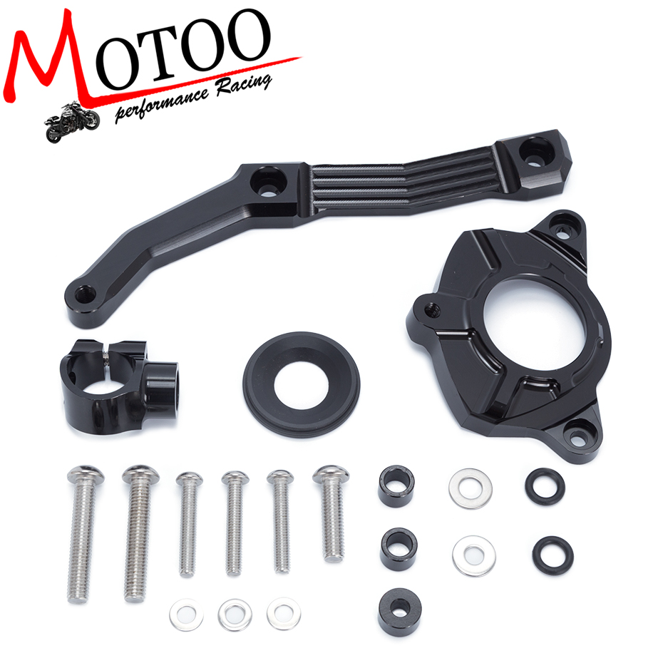 For KAWASAKI Z1000 2010-2013 Motorcycles Adjustable Steering Stabilize Damper Bracket Mount Support Kit Accessories<br>