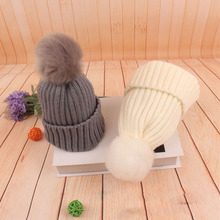 Winter Autumn Warm Children Hat For Baby Boy Girl Cap with Pompom Ball Beanies Soft Knitted Crochet Caps