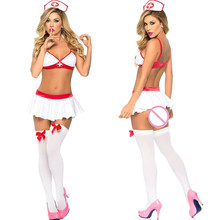 Buy Sexy Uniform Nurse Cosplay Porn Women Babydoll Underwear Chemises Women Sexy Lingerie Hot Erotic Costumes Halloween Role Play