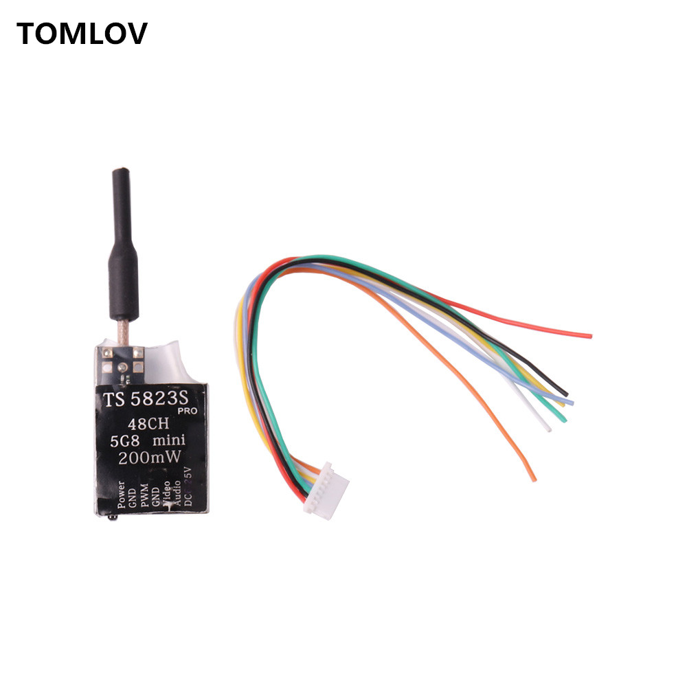 TOMLOV TS5823S 40CH 5.8G 200MW AV Transmitter Module RP-SMA Female Skyzone Upgrade for Eachine for RC airplane