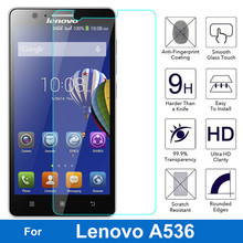 Buy 2.5D 0.3mm tempered glass Lenovo A536 536 538 A358T A538 screen protector guard film front case cover +clean kits for $1.09 in AliExpress store