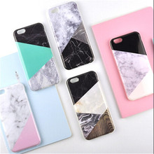 UVR For Iphone 6 6s 7 7plus 5S case Marble pattern splice phone cases back cover mobile phone case Dust plug capa fundas carcasa