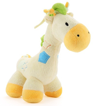 Cute Baby Plush Newborn Horse Animals Mobile Muscial Dolls Yellow Educational Stuffed Toy For Boys And Girls -- DBYC020 PT49(China)