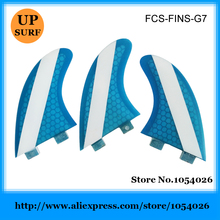 New FCS fin G7 fin honey comb fin Blue FCS Large Fins Free shipping