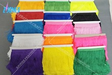 Buy 10 yards 15CM Polyester Fringe Trim African Tassel Ribbon Lace Accessory Sew Latin Dance Dress Garment Curtain DIY Accessories for $14.44 in AliExpress store