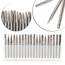 "OOTDTY 20Pcs/Set 1/8"" 3mm Tungsten Carbide Cutter Rotary Burr Set CNC Engraving Bit(China)"
