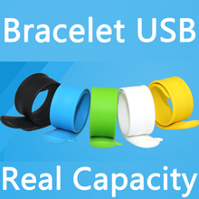 100% Real Capacity Silicone Bracelet Wrist Band 64GB 32GB 16GB 8GB USB 2.0 USB Flash Drive 128GB 256GB Pen Drive Stick Pendrives