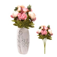 5 Colors Pretty Charming 1 Bouquet Artificial Peony Flowers Festival Party Decorative Flower Wedding Christmas Home Decal Flower