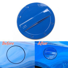 Auto Car Exterior Fuel Gas Door Oil Tank Box Cap Cover Trim ABS Blue Fit For Chevrolet Camaro 2017 Decor Car Styling Accessories
