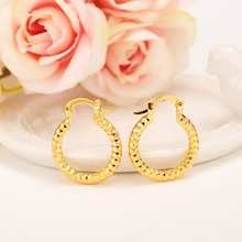 2 pairs Baby Girls  Round Circles Huggies Hoop Earrings Gold  Jewellery For Kids Children Aros women jewelry african best gift