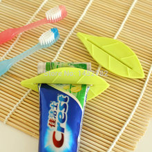 2PCS/SET Creative Home Furnishing Leaf Shape Toothpaste Squeezer Toothpaste Dispenser(China)