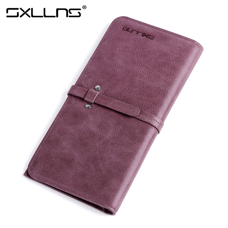 Sxllns Brand 2017 New Women High Quality Genuine Leather Wallet Fashion Clutch Bags Womens Wallets And Purses Ladies Wallet<br>