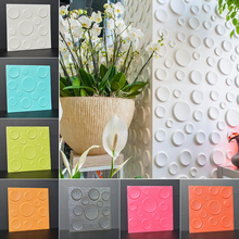 30*30cm PE Foam Stickers 3D Backdrop Elastic Wall Sticker Home Furniture Hall Store Decorative DIY Round Circle Mural Wallpaper(China)