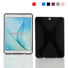 X Line TPU Case Gel Rubber Soft Back Cover Silicon Case For Samsung Galaxy Tab S2 9.7 T810 T815 Tablet PC Case Many Colors(China)