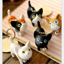 Meetcute Cute Cartoon Dolls 3D Kate Cat KeyChain Porte Clef Women KeyRing Car Trinket Couple Key Chains Kids Toy Key Ring Charms(China)